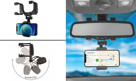 LAX Premium Rear view mirror car mount