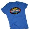 Survivor -- Pearl Islands Crop Sleeve Fitted Juniors Men's T-Shirt