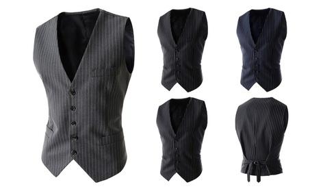 Mens Tailored Collar Waistcoat Suit Vest