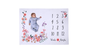 Baby Girl Milestone Blanket