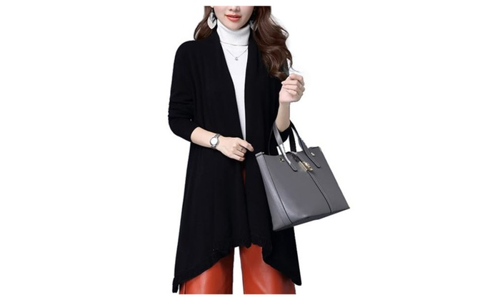 Women's Regular Fit Long Sleeve Casual Solid Casual Cardigan