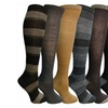 Yacht&Smith 6 Pairs Womens Knee High Socks, Premium Colored Patterns