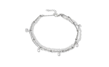 Stainless Steel Chain Anklet Bracelet With Charms fdf6fadd-36c7-4b6a-a595-357211521f21