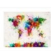 Michael Tompsett 'Paint Splashes World Map' Canvas Rolled Art