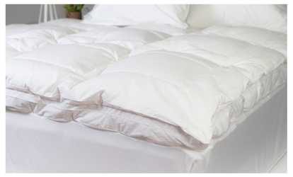 image placeholder image for luxurious liza jane collection feather bed topper