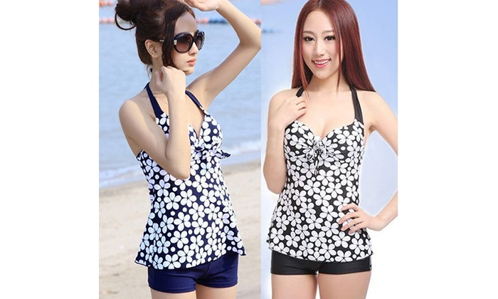 a086302c38 Up To 49% Off on Women Sexy Floral Dots Beach ...