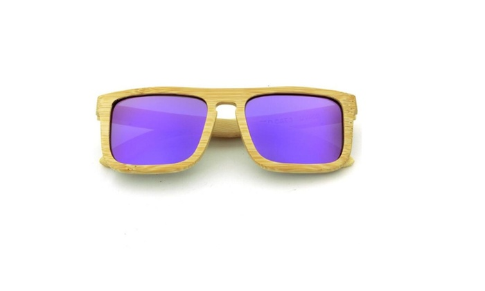 T3 Pure natural Handmade Bamboo Sunglasses Glasses With Polarized Lens