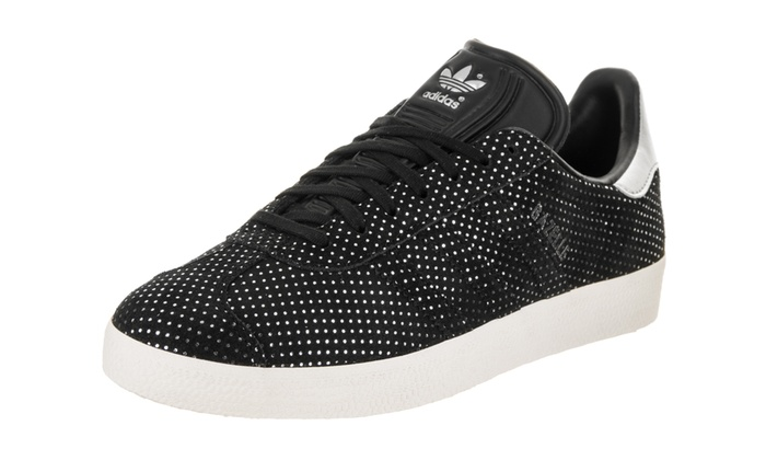Details about Women's Adidas Gazelle Shoes Sneakers BY9363 Size 9.5 Black New Silver Sparkle