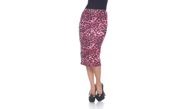 Red Cheetah Cynthia Pencil Skirt