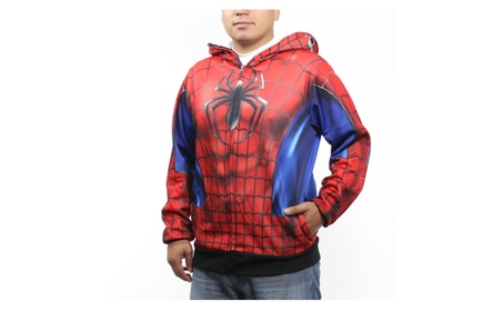 MARVEL Spider-Man Mask Costume Men's Red Hoodie NEW Sizes S-2XL b37b0a03-426d-4f47-a59e-3f8926b86c6b