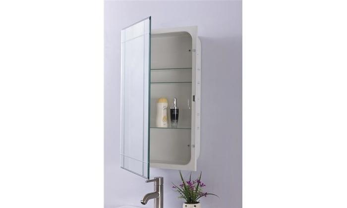 Bellaterra Home 808909 Mc 36 Lbs Mirrored Medicine Cabinet Multi Color