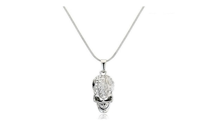 Miss lady crystal skull skeleton pendant necklace groupon miss lady crystal skull skeleton pendant necklace aloadofball Image collections
