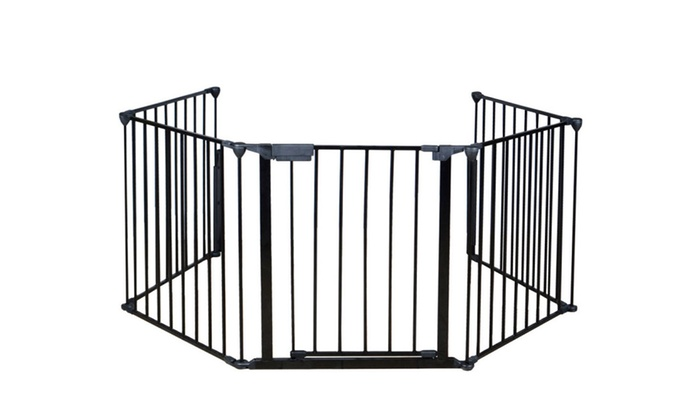 Attirant Baby Safety Gate Door Extra Wide Metal Walk Thru Pet Dog Cat Fence ...