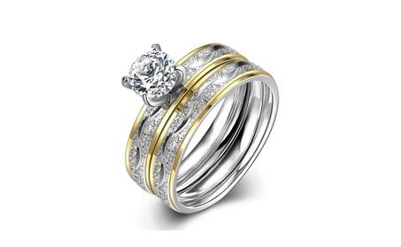 Women's Wedding Engagement Anniversary Ring 2 Pcs a set d997565b-6eaf-4d02-8401-4d7bfd2746ad