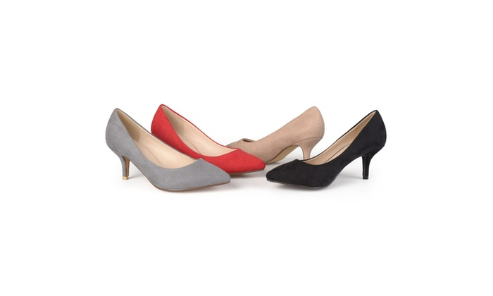 Journee Collection Womens Pointed Toe Classic Sueded Pumps
