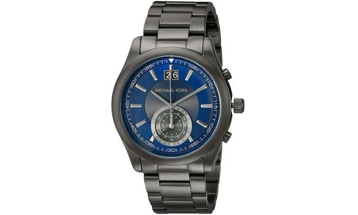 0dd58e12f231 Michael Kors Aiden Gunmetal Mens Watch MK8418 Grey Blue