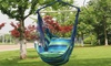Swing Hammock Chair with 2 Pillows Indoor Outdoor