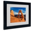 Pierre Leclerc 'Delicate Arch' Matted Black Framed Art