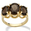 Smoky Quartz 14k Gold over Sterling Silver Ring