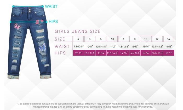 Girls/' Stretch 5 Pockets Basic Premium Ripped Skinny Jeans GDP-83208B