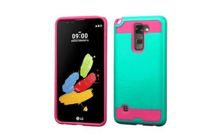 Insten Hybrid Hard Case For Lg G Stylo 2/stylus 2 Teal/hot Pink 206d1b10-9db8-48e6-8cf6-526d97f5e6e9
