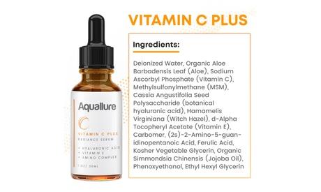 Vitamin C Plus Radiance Serum - Hyaluronic Acid, Amino Complex, Vitamin E - 1 pk