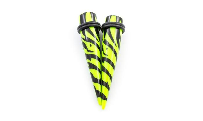 5 Pairs of Acrylic Taper Stretching Kit w//O-rings 6ga 00ga