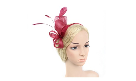Women's Clip Flower Feather Hair Clip Hair Fascinator