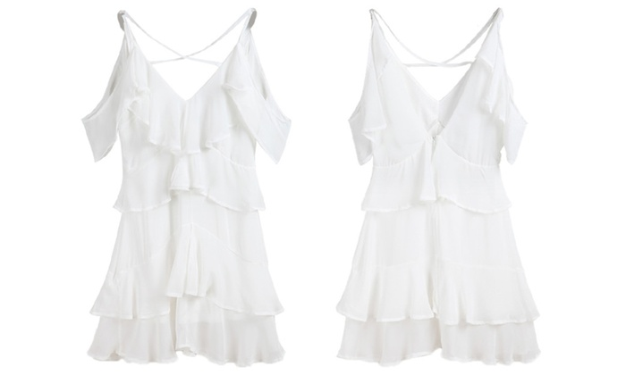 When the Going Gets Ruffle Halter Dress