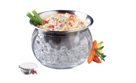 Prodyne IC-6 Stainless Steel Bowl And Dip Cup On Ice, 22 Oz c8fff4b4-2336-425c-b922-5ac3b258cc88
