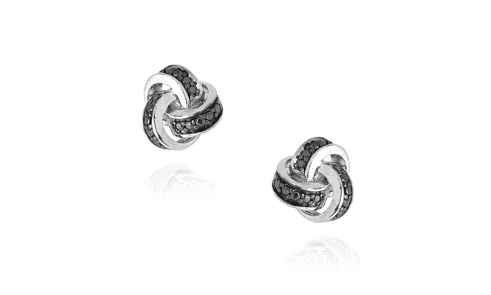 pandora knot en us clear sparkling knots jewelry stud love earrings cz