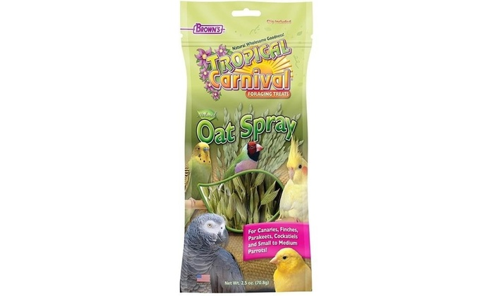 F M  Browns 118629 Tropical Carnival Natural Oat Spray for Pet Birds