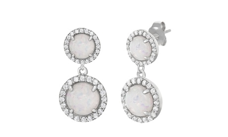 Sterling Silver Opal CZ Post Earring 5ca9cd6e-54f4-4bc8-8f19-6495ad7910f9