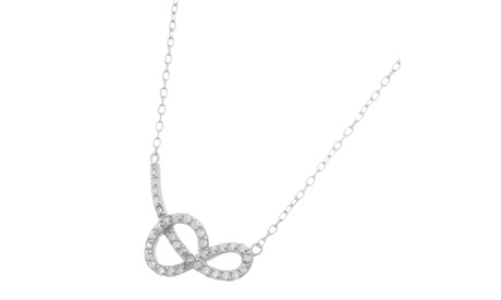 """Sterling Silver CZ Tied Loop 16"""" Cable Chain Necklace 0151c6f4-2bb8-4b0d-bf6d-9b94164fea53"""