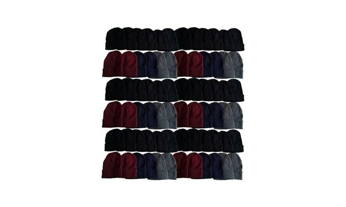 60 Pack Case Mens Womens Winter Hats Wholesale Bulk a96a8e1496