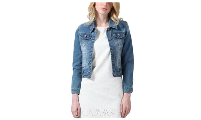 Women's Simple Buttons Up Solid Casual Casual Denim Jacket