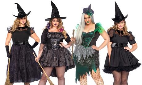 Leg Avenue Women's Black Magic Mistress Sexy Dress Plus Size Halloween Costume