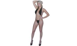 Sexy Open Front Halter Top Bikini