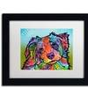 Dean Russo 'Reagan' Matted Black Framed Art