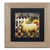 Color Bakery 'Sheep ' Matted Birch Framed Art