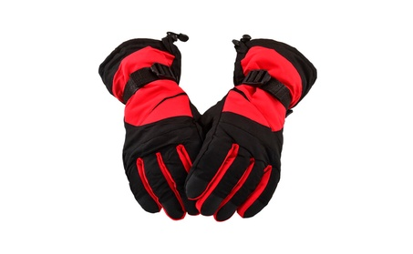 Winter Sportswear Thermal Insulated Adjustable Snowboard / Ski Gloves