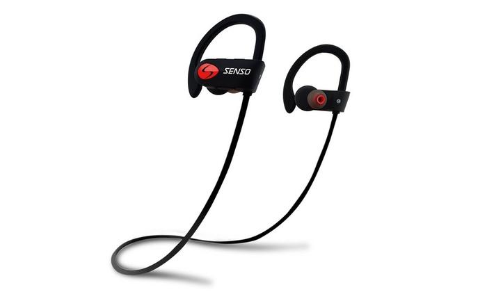 21edb157ee1 Bluetooth Headphones Wireless Sports Earphones w/Mic Sweat Proof HD Stereo  Earbud
