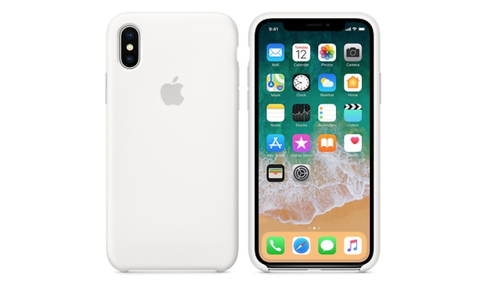 finest selection e4819 e5bcc Apple iPhone X / XS silicone case - Black or White