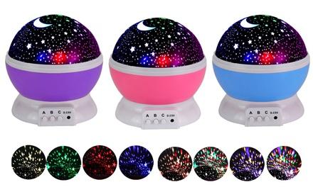 LED Night Light Moon Star Projector 360 Degree Rotation