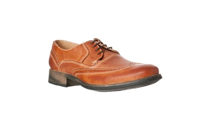 fa2eea381f3 Steve Madden Men's 'Chapman' Leather Wingtip Oxfords, Tan Leather ...