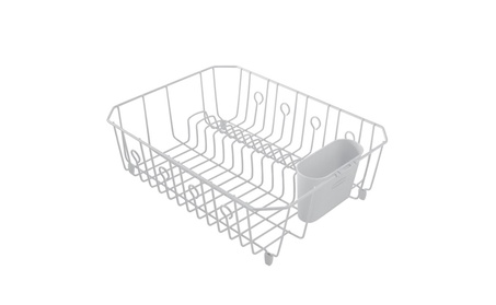 Rubbermaid AntiMicrobial In-Sink Dish Drainer With Silverware Cup d77b2718-14b6-473e-8e6c-f32838fd66ba