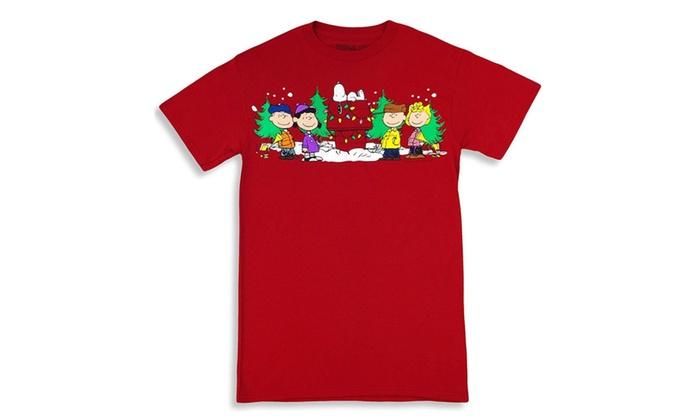 peanuts charlie brown christmas t shirt cardinal
