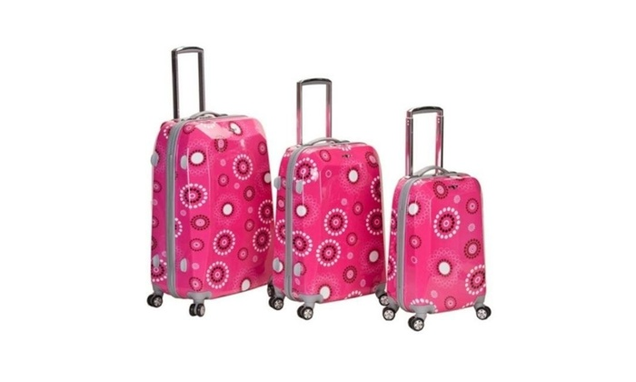 ca90a1587 Rockland F150-Pink Pearl 3 Pieces Polycarbonate-Abs Luggage Set - Pink  Pearl Multi-color