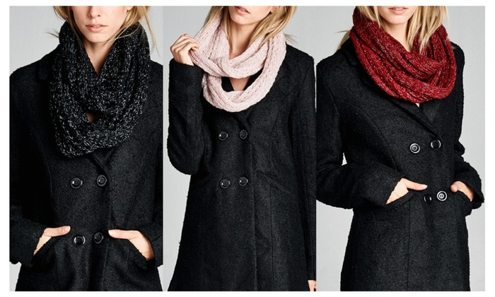 Pack of 3 Knit Infinity Scarf