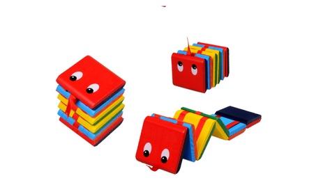 Eye Printed Colorful Wooden Flip Fold Board Toys Kid/Baby Puzzle Gift 128b7982-ff60-474c-b24a-f24ea203db6e